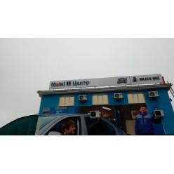 Большие объемные световые буквы на крышу/фасад